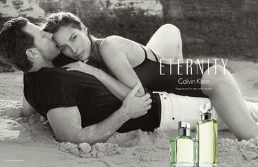 Christy Turlington poses with husband Ed Burns in the 25th anniversary ad for   Calvin Klein's Eternity. (Handout Calvin Klein)