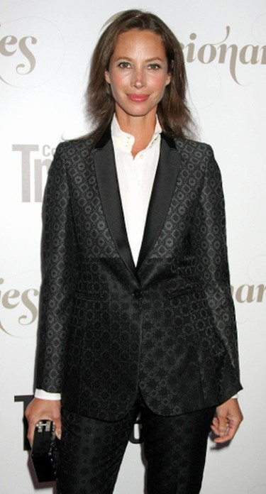 Christy Turlington at the Conde Nast Traveler Celebration of 'The Visionaries' and 25 Years of Truth In Travel at Alice Tully Hall, September 2012. (Mr. Blue/WENN.com)