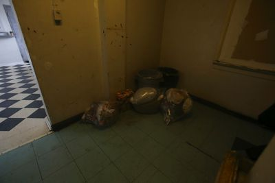 Garbage bags in the second-floor hallway of the Broadview Hotel Tuesday, May 13, 2014. Jack Boland/Toronto Sun/QMI Agency