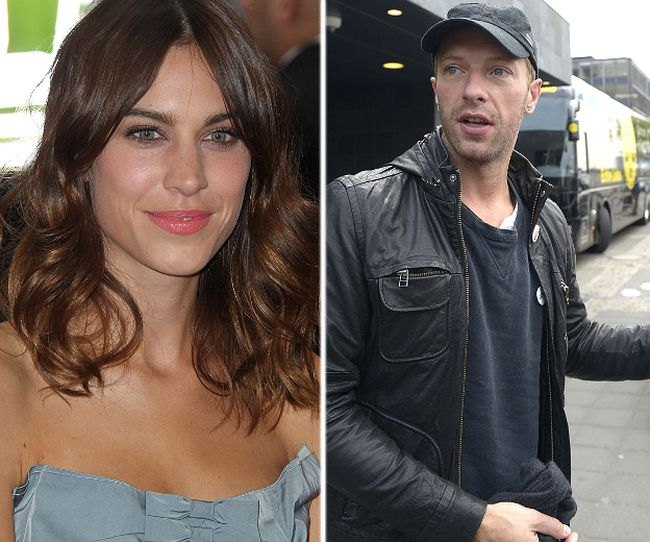 (L-R) Alexa Chung and Chris Martin. (WENN.COM file photos)