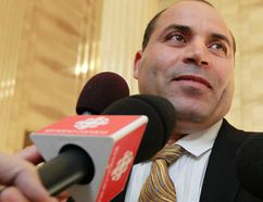 Mohamed Harkat talks to the media at the Supreme Court of Canada in this Oct. 10, 2013 file photo. (Tony Caldwell/QMI Agency)