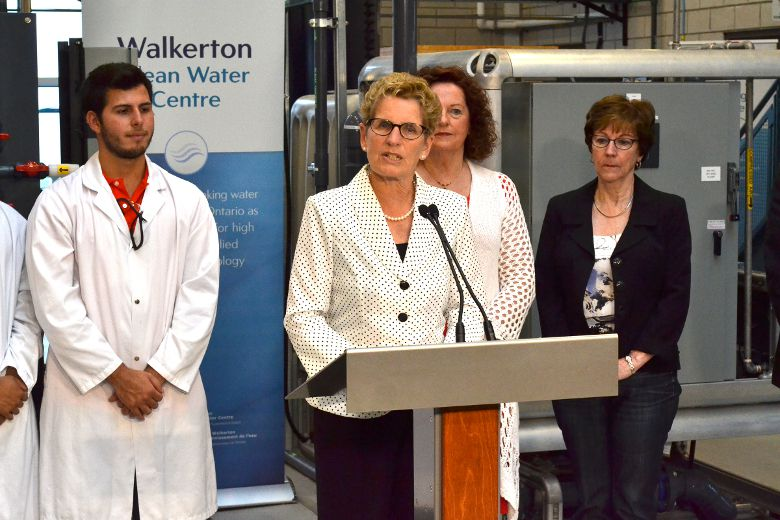 Premier Kathleen Wynne at a campaign stop in Walkerton Thursday. (PATRICK BALES/QMI Agency)