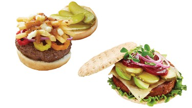 Kick off summer with these four burger recipes that take their inspiration from Canadian regional cuisines. Topped with pickles, the Grouse Mountain Power Burger, Muskoka Breakfast Burger, Poutine Crunch Burger and Stampede Sliders are great new additions to the cottage menu. (Bick's/QMI Agency)