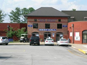 This Wikipedia image shows the front entrance of South Forsyth High School in Cumming, Forsyth County, Georgia. (McBrayn/Wikipedia)
