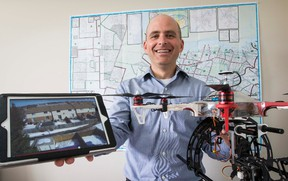 Realtor Tony Miller has started using drones to capture video and photos of his listings to assist in his marketing. May 15, 2014. Errol McGihon/Ottawa Sun/QMI Agency
