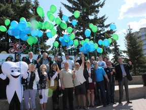Excitement builds for the second annual Life and Leisure Expo as balloons were released in Central Park on May 13 to launch the countdown to the event, scheduled May 24 and 25. - Karen Haynes, Reporter/Examiner