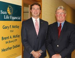 Gary and Brent McKay of McKay Insurance and Financial Services are celebrating 70 years in the family business this year. They are being honoured with a lifetime achievement award by the Delhi and District Chamber of Commerce. (SARAH DOKTOR Delhi News-Record)