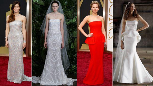 The red carpet and the wedding dress world are a perfect match. We take a look at some big red carpet looks that could help you walk down the aisle.