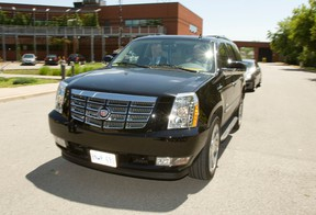 Mayor Rob Ford's black Cadillac Escalade. (Toronto Sun files)