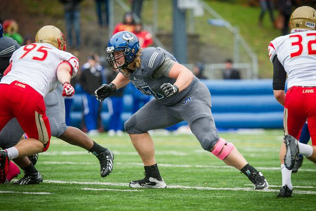 University of Montreal offensive lineman David Foucault has signed with the Carolina Panthers of the NFL. (JAMES HAJJAR photo)