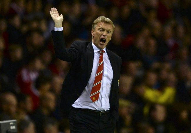 Then Manchester United's manager David Moyes gestures during their English Premier League soccer match against Sunderland at The Stadium of Light in Sunderland, northern England, in this October 5, 2013 file photo.  (REUTERS/Nigel Roddis/Files)