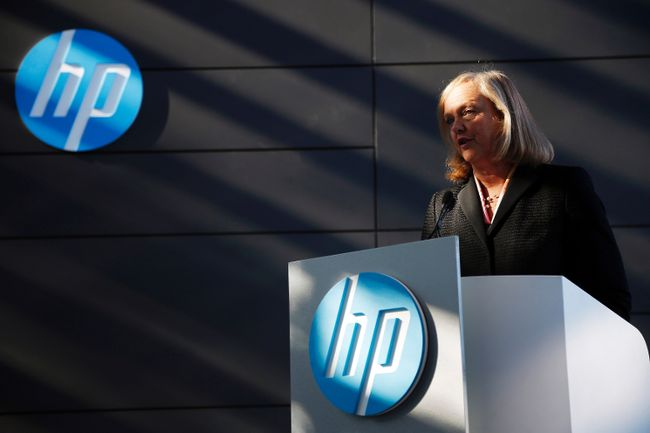 Meg Whitman, chief executive officer and president of Hewlett-Packard, speaks during the grand opening of the company's Executive Briefing Center in Palo Alto, California Jan. 16, 2013. REUTERS/Stephen Lam