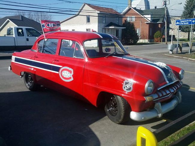 Maxime Fontenelle spent two years transforming a 1953 Plymouth Belvedere into the ultimate homage to the Montreal Canadiens. (Marie-Eve Dumont/QMI Agency)