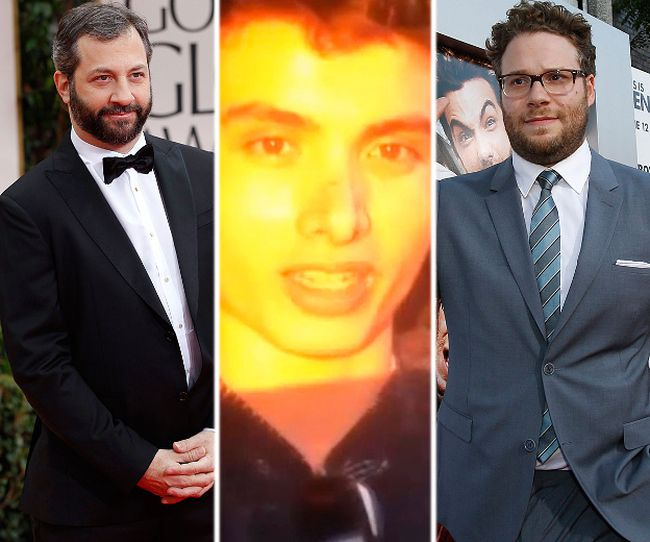(L-R) Judd Apatow, Elliot Rodger and Seth Rogen. (REUTERS file photos)