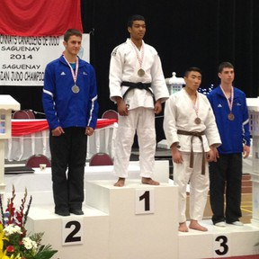Drayton Valley's Chris Bailey (on left) came in second place at Canadian Judo Championship held in Quebec. The teen will now prepare for U.S. Open held at the end of July.