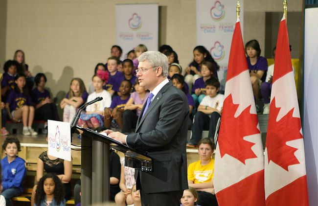 Prime Minister Stephen Harper makes a speech during the Maternal Health Summit in Toronto on Thursday May 29, 2014. The federal government has announced $3.5 billion to improve maternal and baby health in developing countries. Ernest Doroszuk/Toronto Sun/QMI Agency
