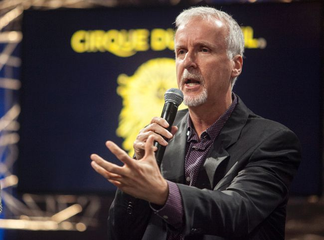 James Cameron addresses the media during a press conference in Montreal to announce an Avatar-themed Cirque du Soleil show. (PHILIPPE OLIVIER CONTANT/QMI AGENCY)