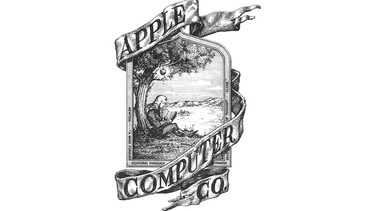 This original logo for Apple, featuring Isaac Newton, sitting under an apple tree, was a prototype drawn by Ronald Wayne on April 1, 1976. (Wikimedia Commons/HO)