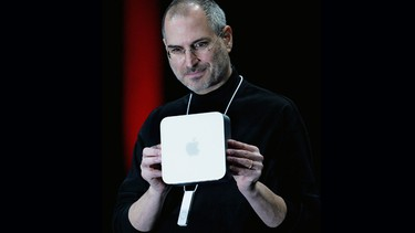 January 2005 - Launch of the Mac mini, a compact desktop computer with the dimensions 19.6 cm by 19.6 cm by 3.6 cm and weighed 1 kg. (AFP Photo)