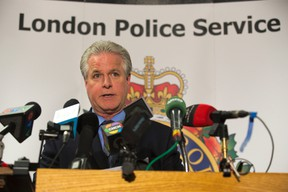 Police Insp. Kevin Heslop speaks about the rescue of a 10-year-old boy held captive for months in London, Ont., Friday, May 30, 2014. (DEREK RUTTAN/QMI AGENCY)