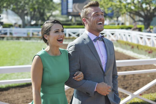 Bachelorette Andi Dorfman and Farmer Chris.