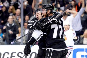 The Kings' Tyler Toffoli and Jeff Carter. (Getty Images/AFP)