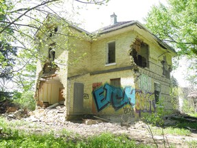 Down a long gravel driveway in the city?s north end, an abandoned house and barn await urban explorers at Jeremiah?s Field, a property once used for community gardens and programs. (JENNIFER BIEMAN, The London Free Press)