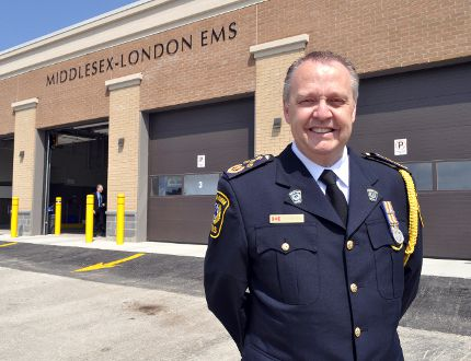 Middlesex-London EMS Chief Neil Roberts stands outside of the new ambulance station on Horizon Drive in London, Ont. June 3, 2014. CHRIS MONTANINI\LONDONER\QMI AGENCY (File photo).