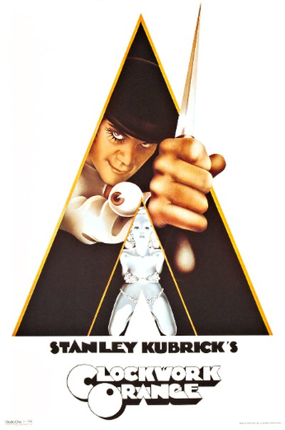 A Clockwork Orange (1971)The original poster featured a naked woman, which was covered up with underwear for American audiences and then eventually, dropped from the poster all together.