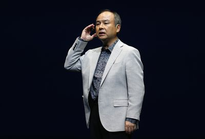 SoftBank Corp. chief executive Masayoshi Son speaks during a news conference in Urayasu, east of Tokyo June 5, 2014. REUTERS/Issei Kato