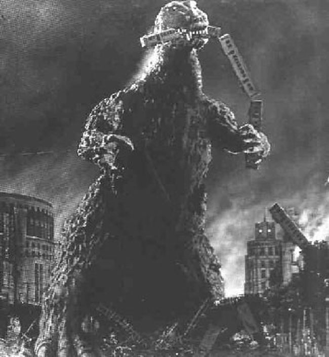 "Godzilla is pictured in this image taken from the 1954 Japanese film ""Godzilla."" (File photo)"