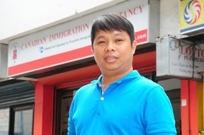 Benjie Rustia, manager of Canadian Immigration Consultancy in Alabang, Manila, Philippines. Bryan Passifiume photo/QMI Agency