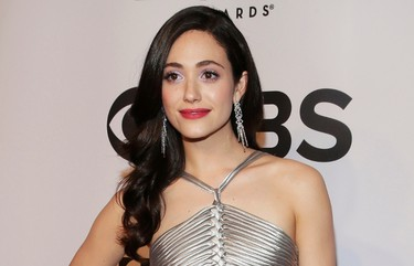 Actress Emmy Rossum arrives for the American Theatre Wing's 68th annual Tony Awards at Radio City Music Hall in New York, June 8, 2014. REUTERS/Andrew Kelly