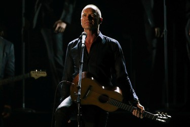"""Musician Sting performs """"The Last Ship"""" onstage during the American Theatre Wing's 68th annual Tony Awards at Radio City Music Hall in New York, June 8, 2014. REUTERS/Carlo Allegri"""