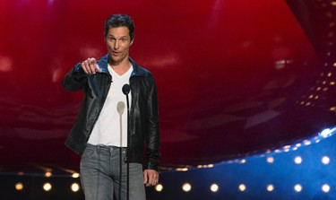 """Actor Matthew McConaughey speaks on stage at the eighth annual Spike TV's """"Guys Choice"""" awards in Culver City, California June 7, 2014. REUTERS/Mario Anzuoni"""