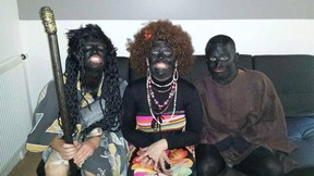 """Several Paris police officers are in trouble after photos surfaced of them in blackface at a """"negro"""" party, French media report. (Facebook photo)"""