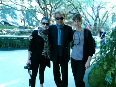 Siegfried Fischbacher, centre, is often seen around the grounds at Siegfried & Roy�s Secret  Garden. He happily poses with guests Donna Donaldson, left, and Kim Thielman-Ibes.