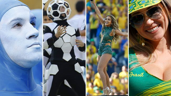 Click through the slides to see some sights from Thursday`s opening ceremony at the World Cup in Brazil.