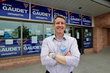 Pickering-Scarborough East PC candidate Kevin Gaudet outside his campaign office on Tuesday, June 10, 2014. (MICHAEL PEAKE/Toronto Sun)