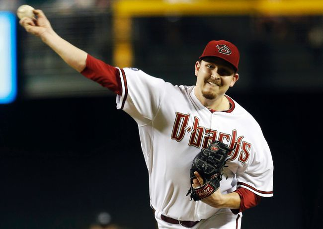 Arizona Diamondbacks starting pitcher Trevor Cahill was demoted to single-A on Thursday. (Reuters)