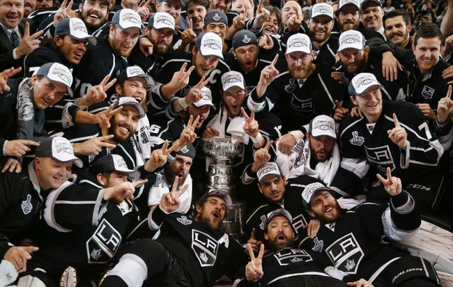 The Los Angeles Kings are the 2014 Stanley Cup Champions thanks to a Alec Martinez double overtime goal. It's the Kings second Cup in two years, and second in franchise history. (REUTERS/Lucy Nicholson)