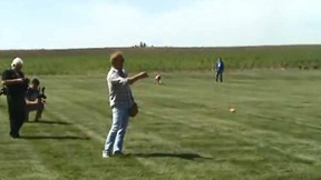 Kevin Costner playing baseball with sons on Father's Day on 'Field of Dreams' pitch.  (YouTube/Courier)