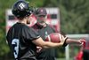 The Ottawa RedBlacks practiced at Keith Harris Stadium on Monday June 16, 2014. Ottawa RedBlack's special teams coach Don Yanowsky is shown here talking to kicker Justin Palardy during practice.  Tony Caldwell/Ottawa Sun/QMI Agency