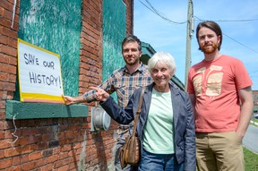 Mary Farrar, of Friends of the Inner Harbour, is planning to stop a wrecking ball from demolishing  the former broom factory at the corner of Cataraqui and Rideau streets.