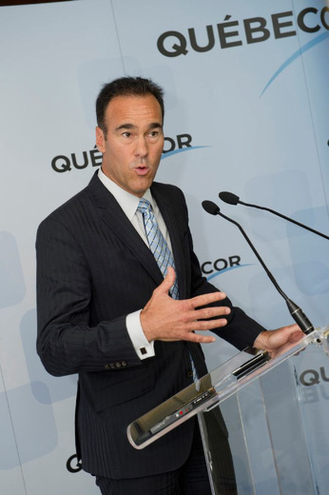 Quebecor CEO Pierre Dion. (FREDERIC AUCLAIR/QMI Agency)