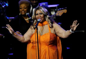 Singer Aretha Franklin performs at the Nokia Theatre L.A. Live on July 25, 2012 in Los Angeles, California.  Kevin Winter/Getty Images/AFP
