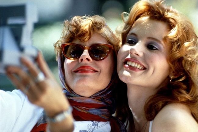 "Susan Sarandon and Geena Davis in 1991's ""Thelma & Louise."""