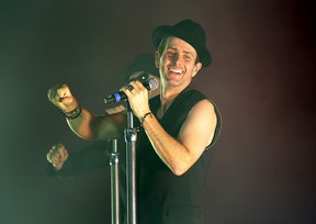 Joey McIntyre and New Kids On The Block perform live at Manchester O2 Apollo in Manchester, United Kingdom on May 30, 2014 (Sakura/WENN.com)