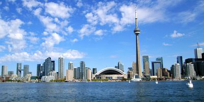 Reader Jeff Clarke provided me with this recent photo of Toronto's spectacular skyline. What a difference 180 years makes!