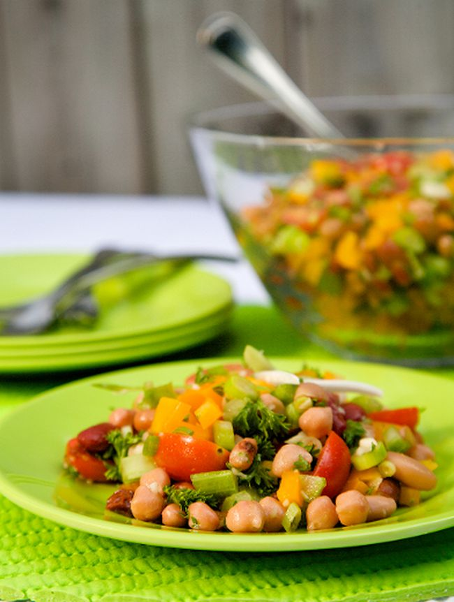 Mixed Bean Salad. (Courtesy of Healthy Starts Here!)